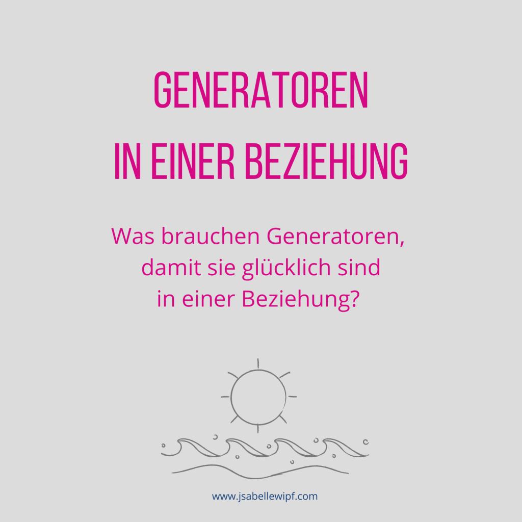 Generatoren Beziehung
